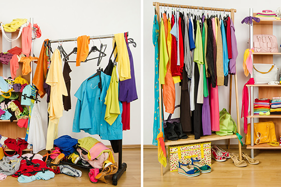 wardrobe before and after with stylish